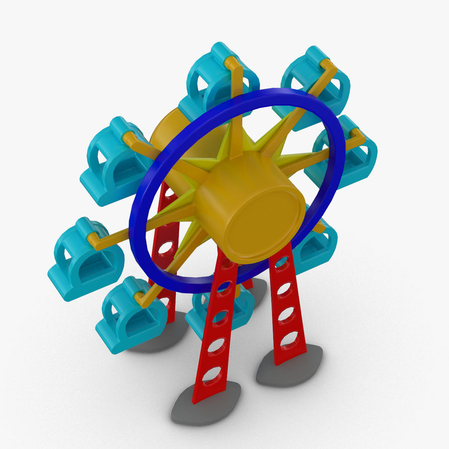 Tolo Toy Ferris wheel royalty-free 3d model - Preview no. 6