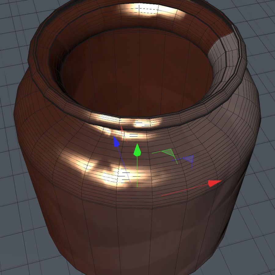 Bronze vessel royalty-free 3d model - Preview no. 4