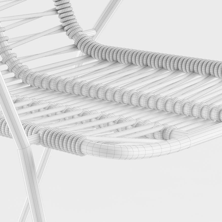 Стул Боконцепт Эльба royalty-free 3d model - Preview no. 5