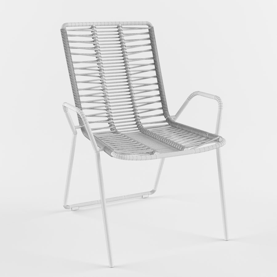 Стул Боконцепт Эльба royalty-free 3d model - Preview no. 2