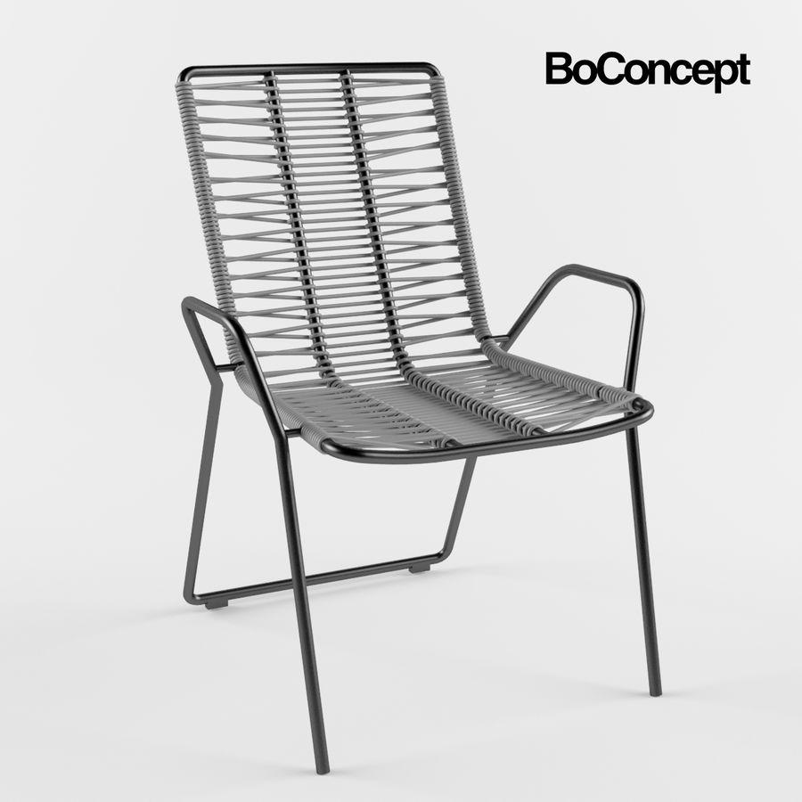 Стул Боконцепт Эльба royalty-free 3d model - Preview no. 1
