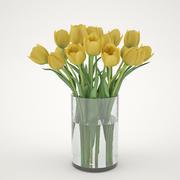 Желтые тюльпаны 3d model
