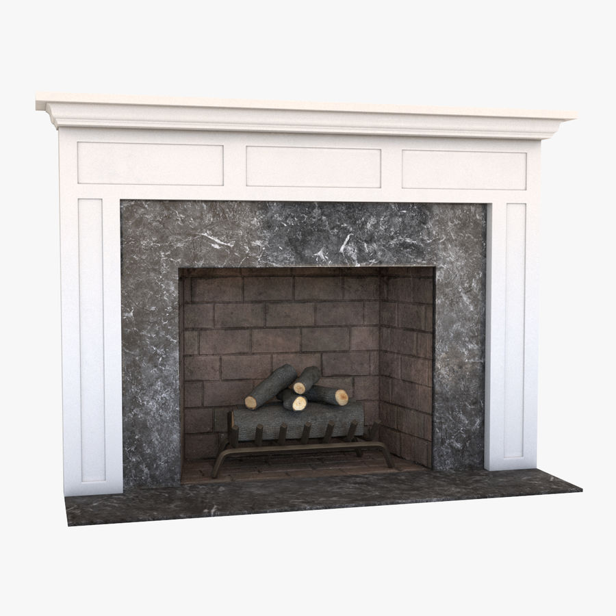 Fireplace royalty-free 3d model - Preview no. 1