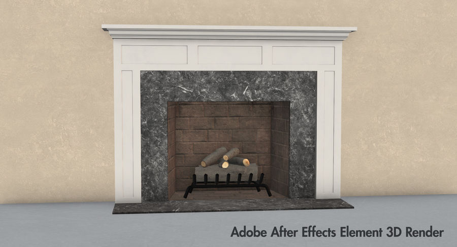 Fireplace royalty-free 3d model - Preview no. 14