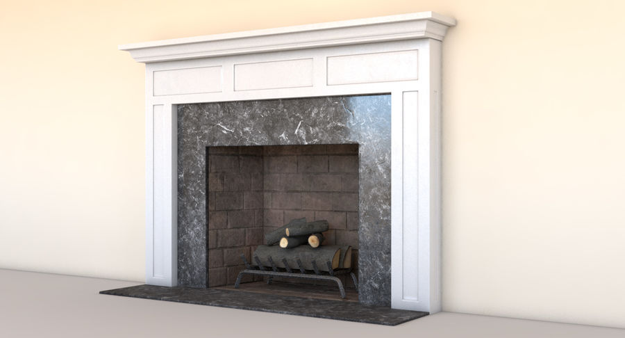 Fireplace royalty-free 3d model - Preview no. 4
