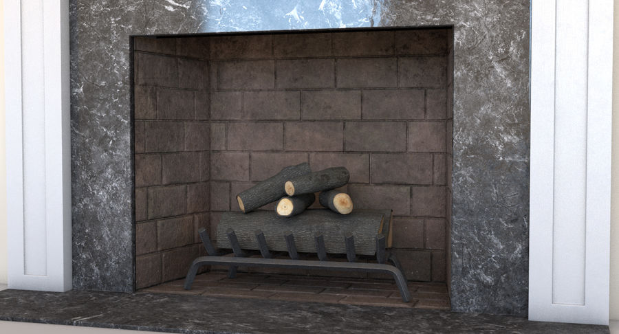 Fireplace royalty-free 3d model - Preview no. 6