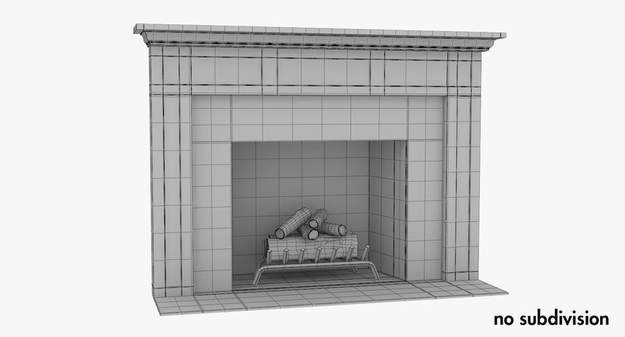 Fireplace royalty-free 3d model - Preview no. 8
