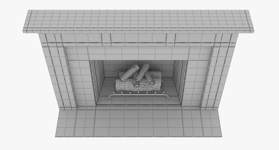 Fireplace royalty-free 3d model - Preview no. 9