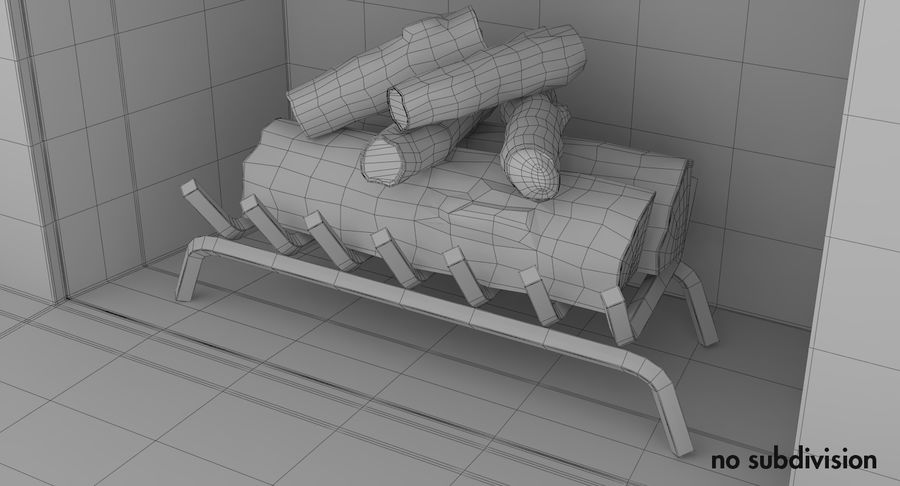 Fireplace royalty-free 3d model - Preview no. 12