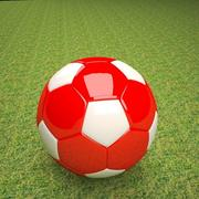 soccer  ball  red  white 3d model