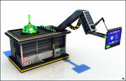 Panneau de la machine Sci-Fi 3d model