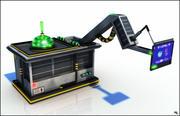 Научно-фантастическая машинная панель 3d model