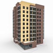 10 Storey Apartment Building 3d model