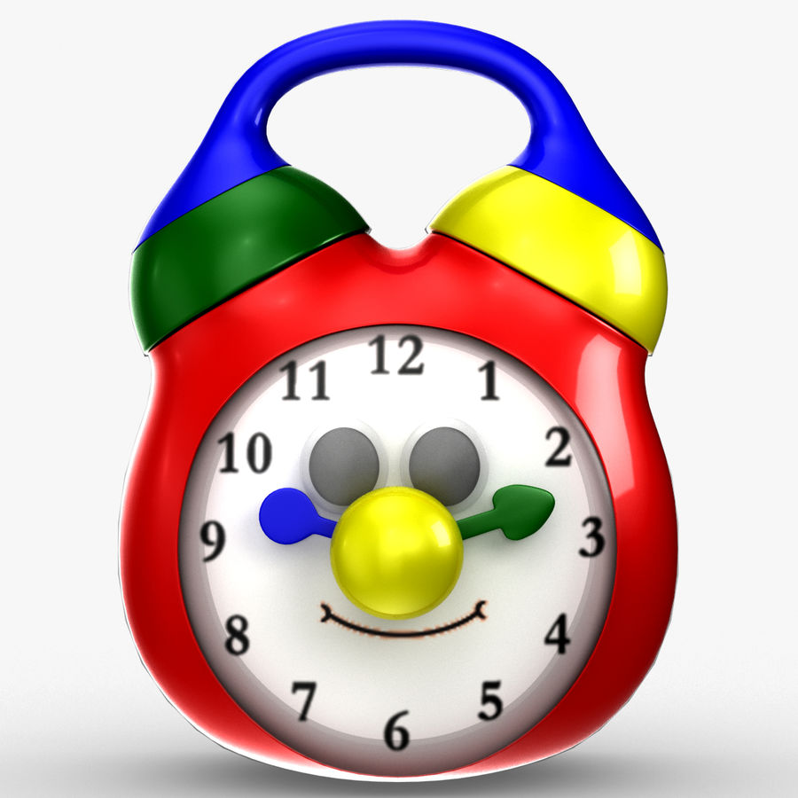 Tolo Toy Clock royalty-free 3d model - Preview no. 10
