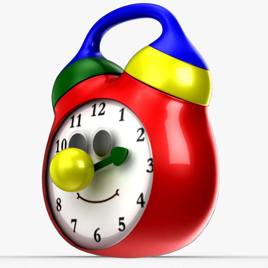 Tolo Toy Clock royalty-free 3d model - Preview no. 9