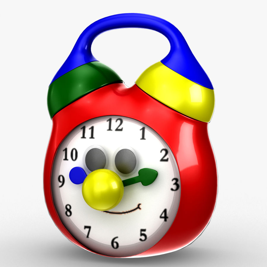 Tolo Toy Clock royalty-free 3d model - Preview no. 2