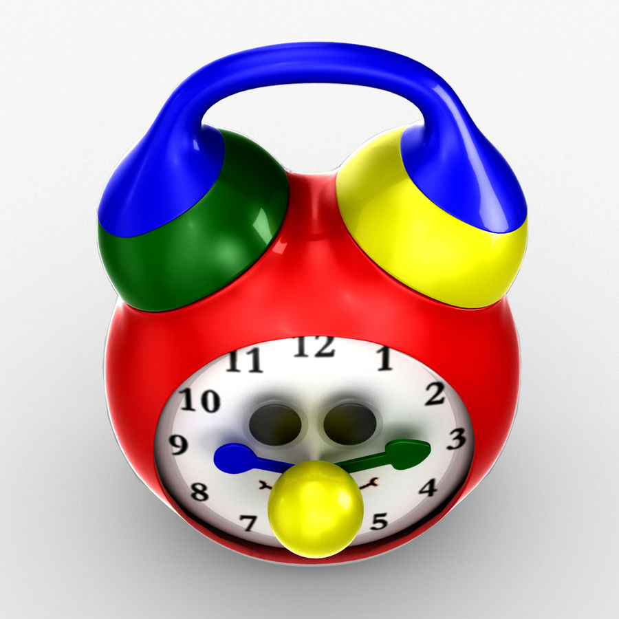 Tolo Toy Clock royalty-free 3d model - Preview no. 4