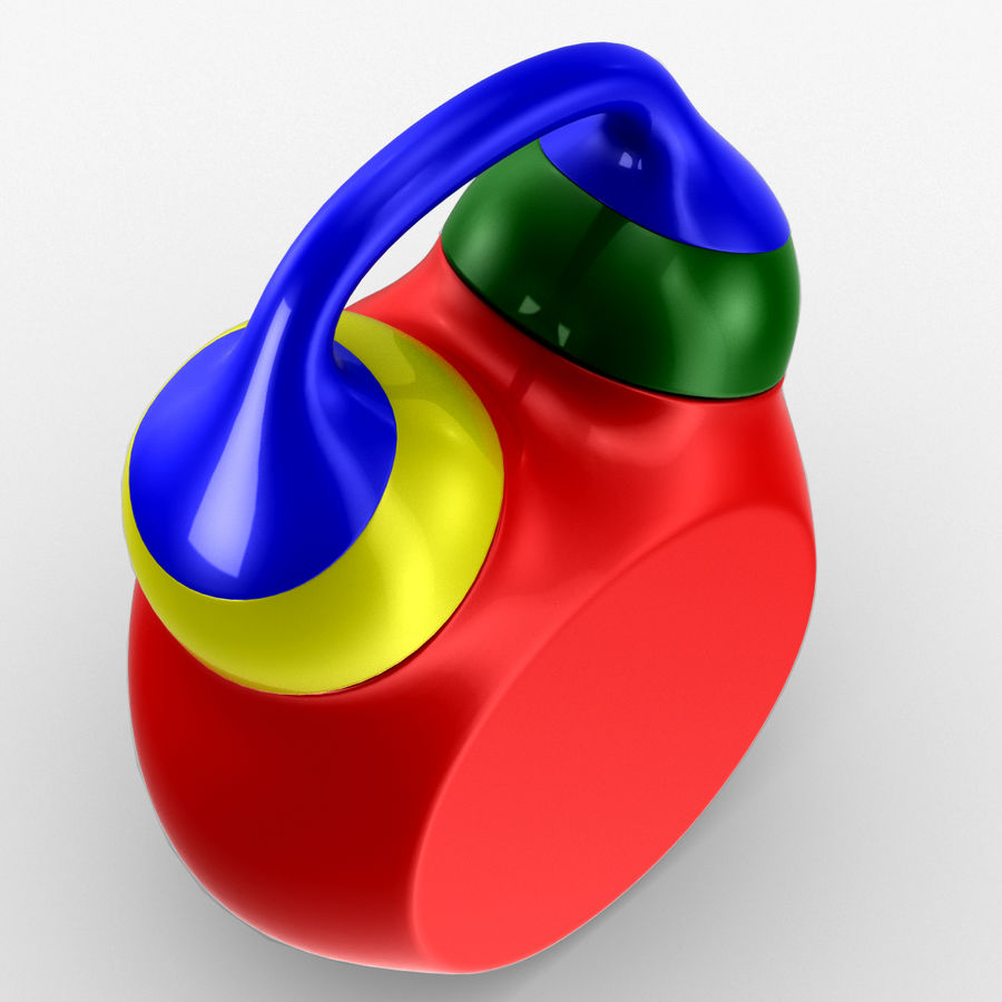 Tolo Toy Clock royalty-free 3d model - Preview no. 7