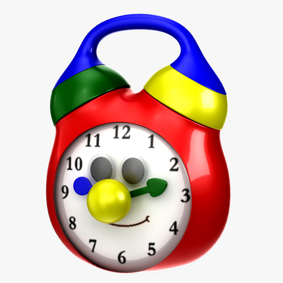 Tolo Toy Clock royalty-free 3d model - Preview no. 1