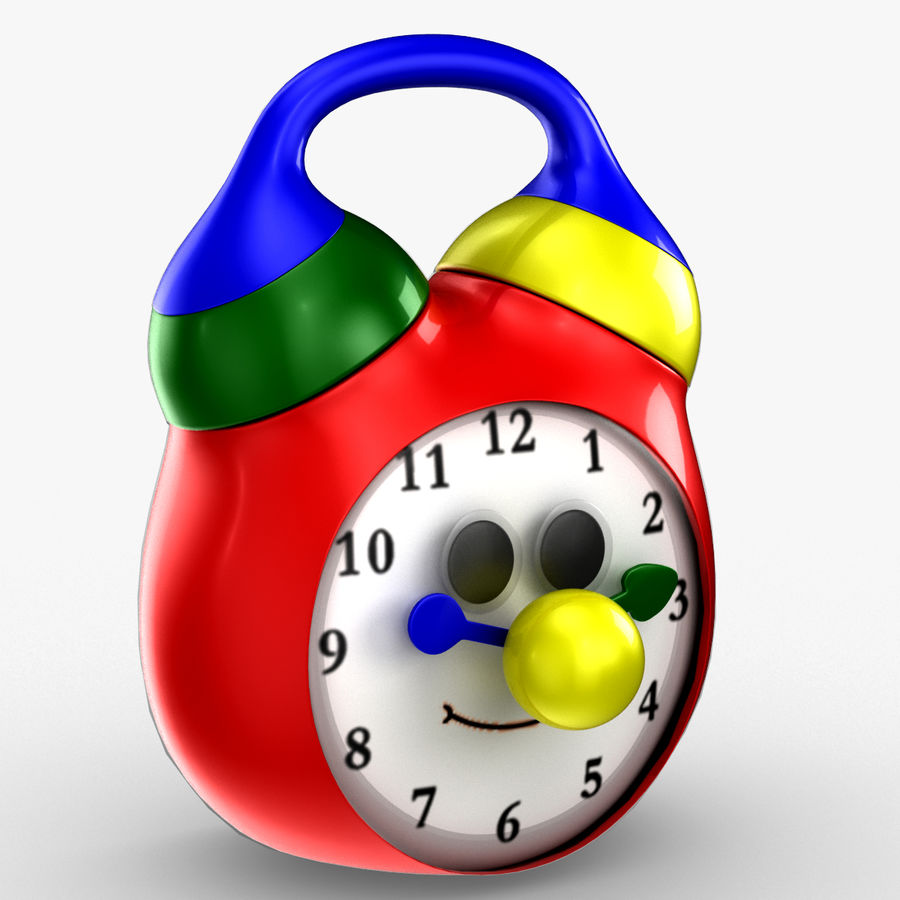 Tolo Toy Clock royalty-free 3d model - Preview no. 3