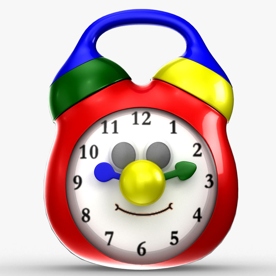 Tolo Toy Clock royalty-free 3d model - Preview no. 5