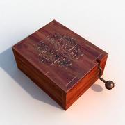 Boîte à musique (jeu prêt) 3d model