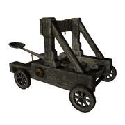 低聚中世纪弹射器3D模型 3d model