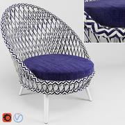 Panna Lounge Chair 3d model