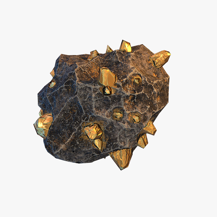 Meteor Ore Gold royalty-free modelo 3d - Preview no. 1