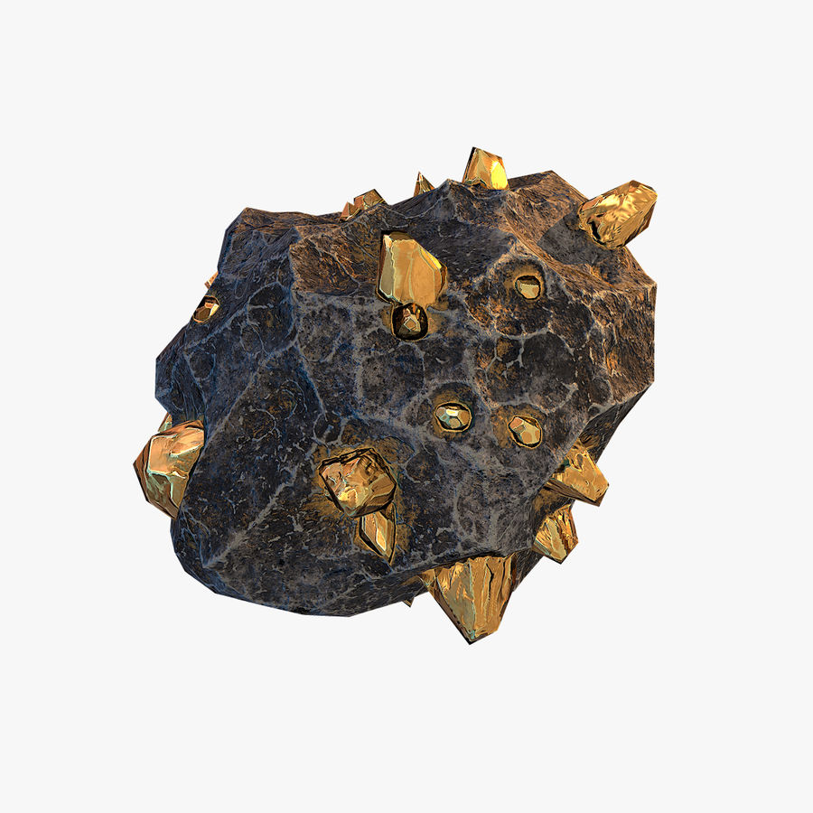 Meteor Ore Gold royalty-free modelo 3d - Preview no. 7