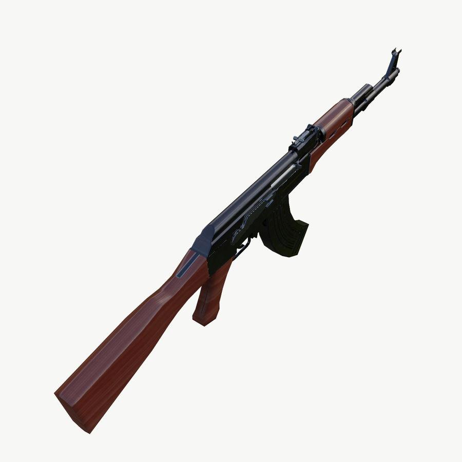 AK 47 royalty-free 3d model - Preview no. 10
