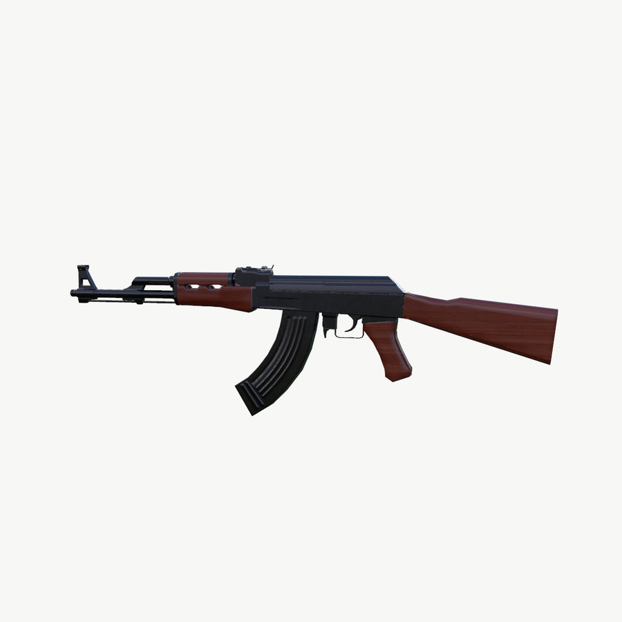 АК 47 royalty-free 3d model - Preview no. 6