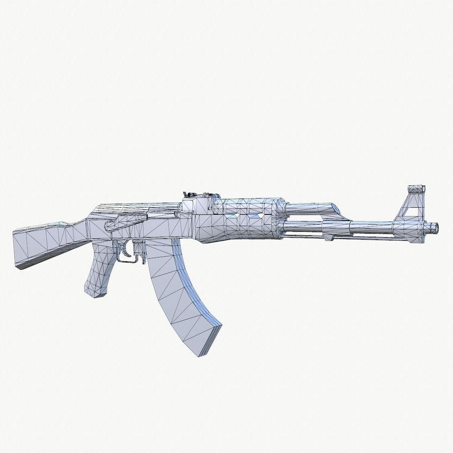AK 47 royalty-free 3d model - Preview no. 2