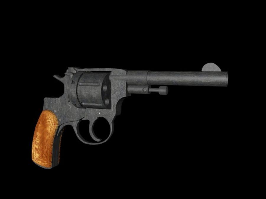 revólver revólver royalty-free modelo 3d - Preview no. 3