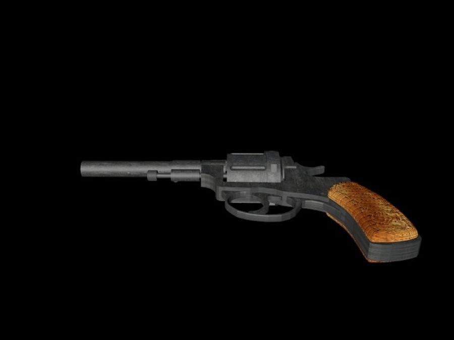 revólver revólver royalty-free modelo 3d - Preview no. 5