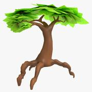 Cartoon-Fantasie-Baum 3d model