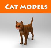 kattmodell 3d model