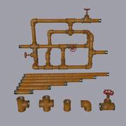 Sistema de tubulação 3d model
