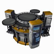 Sci Fi City Building Game Asset 12 - VR AR Sci-Fi Pro Model 3d model