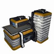 Sci Fi City Building Game Asset 13 - VR AR Sci-Fi Pro Model 3d model