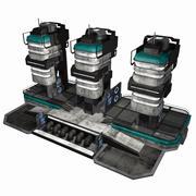 Sci Fi City Building Game Asset 14 - VR AR Sci-Fi Pro Model 3d model