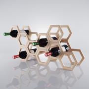 Casier à vin 3d model