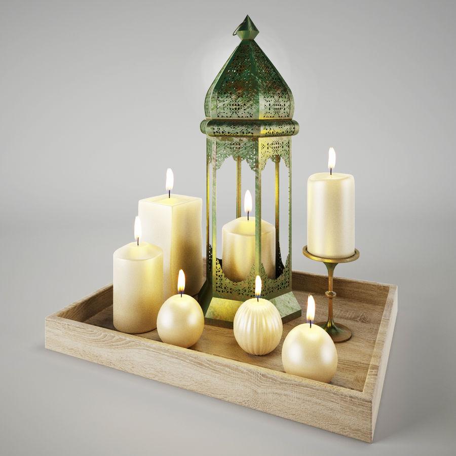 Lantern candles royalty-free 3d model - Preview no. 3