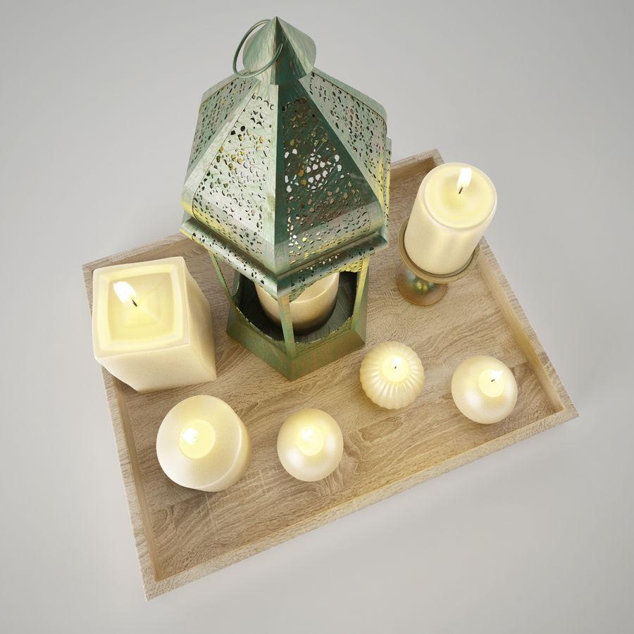 Lantern candles royalty-free 3d model - Preview no. 5