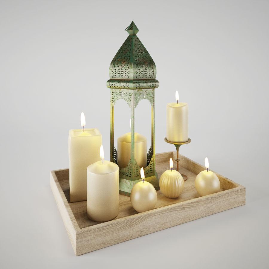 Lantern candles royalty-free 3d model - Preview no. 2