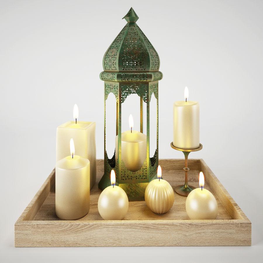 Lantern candles royalty-free 3d model - Preview no. 1