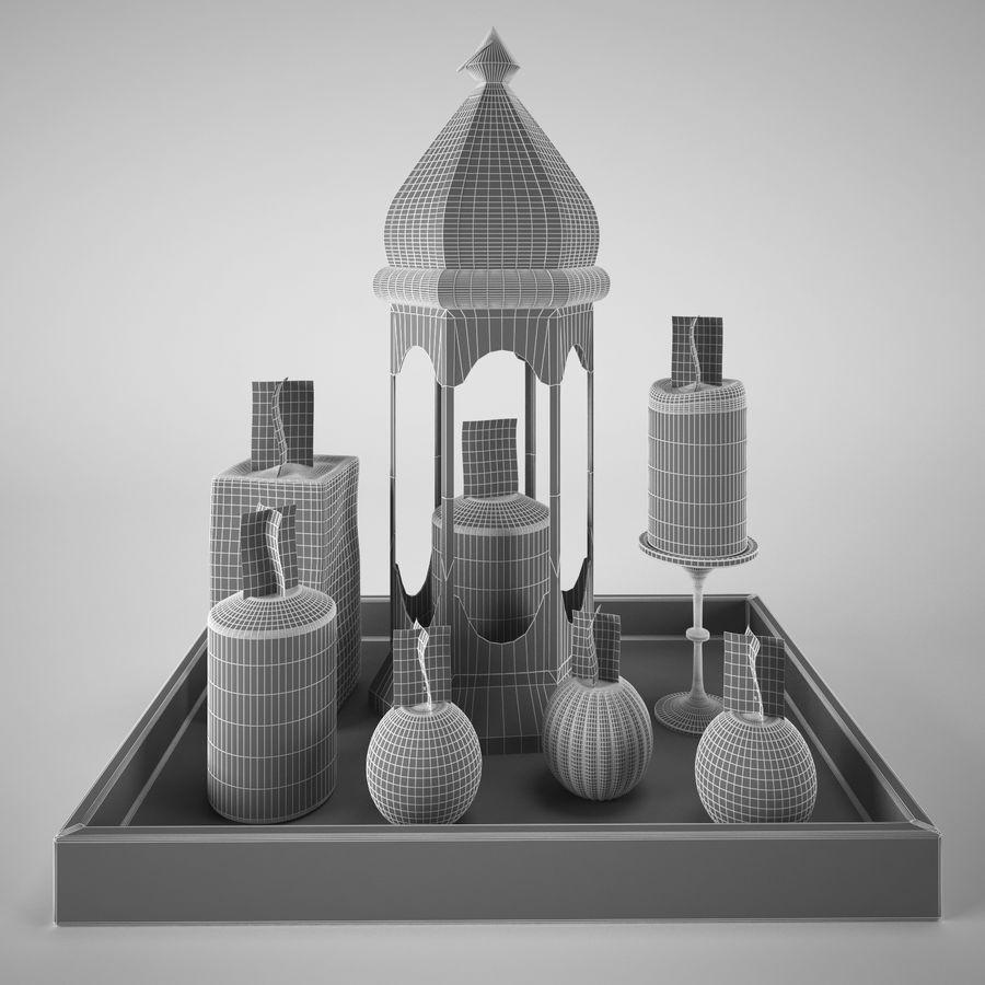 Lantern candles royalty-free 3d model - Preview no. 6