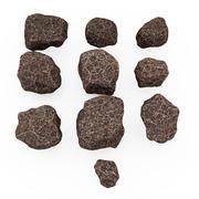 Meteorite stone 3d model