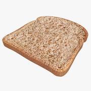 Bread Slice (Bright) 3d model