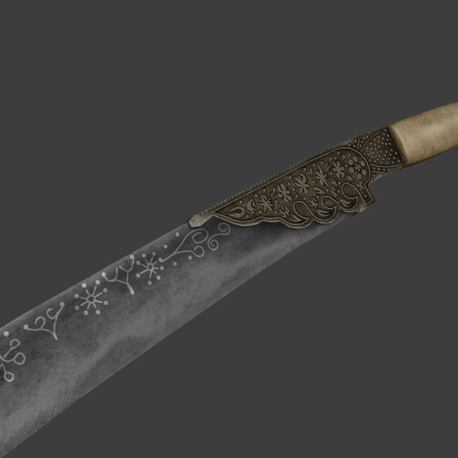 Yatağan Osmanlı kılıcı royalty-free 3d model - Preview no. 4